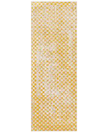 "Surya City CIT-2338 Mustard 2'7"" x 7'3"" Runner Area Rug"