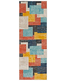 "City CIT-2342 Coral 2'7"" x 7'3"" Runner Area Rug"