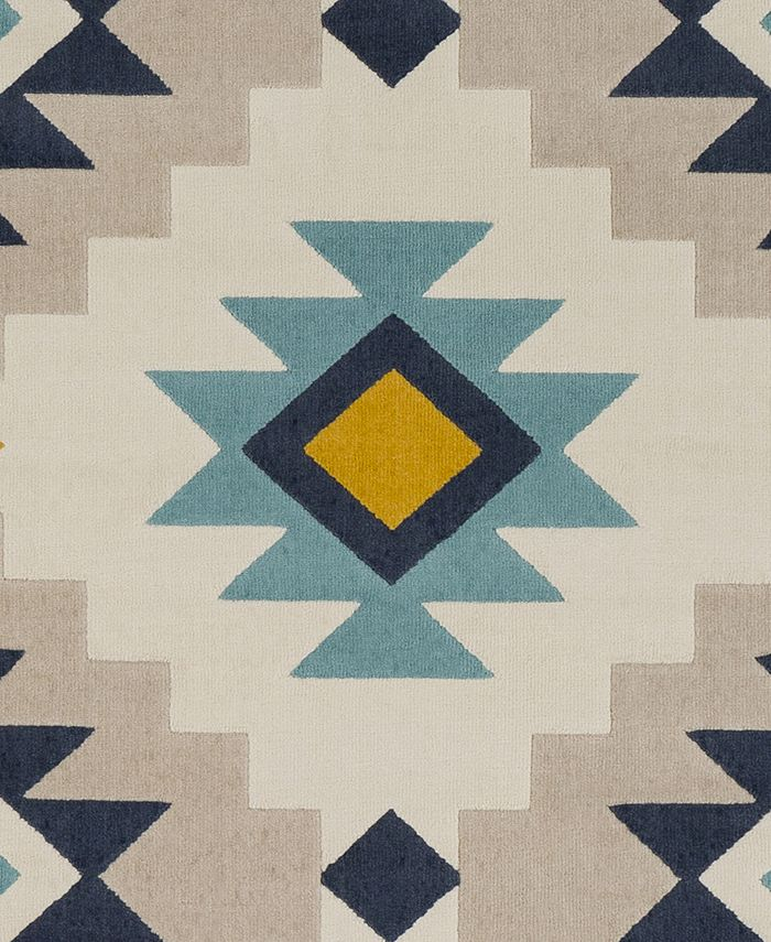 """Abbie & Allie Rugs - City CIT-2306 Charcoal 18"""" Square Swatch"""