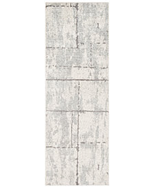 "Surya Elaziz ELZ-2327 Light Gray 2'7"" x 7'6"" Runner Area Rug"