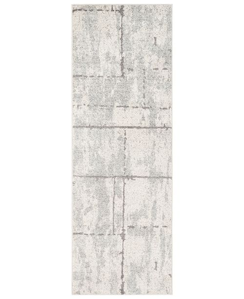 "Surya Elaziz ELZ-2327 Light Gray 2'7"" x 7'6"" Runner Area Rug"