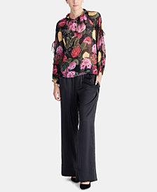 RACHEL Rachel Roy Ginger Floral-Print Top, Created for Macy's