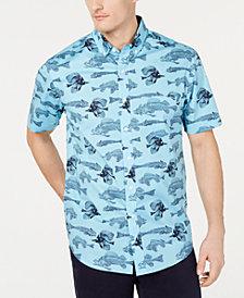 Club Room Men's Bone Fish Graphic Shirt, Created for Macy's