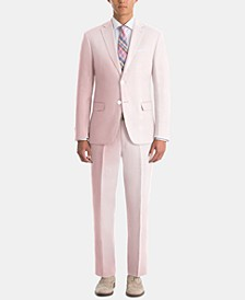 Men's UltraFlex Classic-Fit Pink Linen Suit Separates