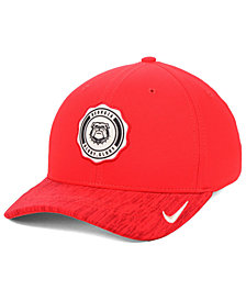 Nike Georgia Bulldogs Rivalry Swooshflex Stretch Fitted Cap