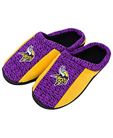 Forever Collectibles Minnesota Vikings Knit Cup Sole Slippers