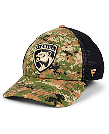 Authentic NHL Headwear Florida Panthers Military Appreciation Speed Flex Stretch Fitted Cap