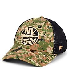 Authentic NHL Headwear New York Islanders Military Appreciation Speed Flex Stretch Fitted Cap