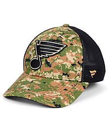 Authentic NHL Headwear St. Louis Blues Military Appreciation Speed Flex Stretch Fitted Cap