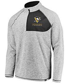 Authentic NHL Apparel Men's Pittsburgh Penguins Static Quarter-Zip Pullover