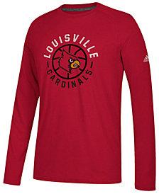 adidas Men's Louisville Cardinals Center Court Long Sleeve T-Shirt