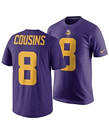 Men's Kirk Cousins Minnesota Vikings Pride Name and Number Wordmark Color Rush T-Shirt