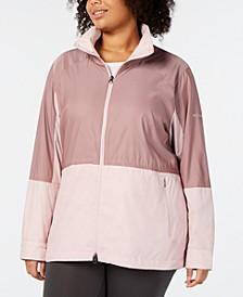 Plus Size Sustina Springs Windbreaker Jacket