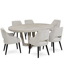 Aspen Dining Furniture, 7-Pc. Set (Table & 6 Side Chairs), Created for Macy's