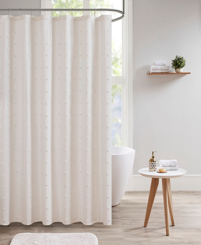 "Urban Habitat - Brooklyn 70"" x 72"" Cotton Pom Pom Shower Curtain"