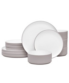 Noritake Colortex Stone 12-Pc. Dinnerware Set, Service for 4, Created for Macy's