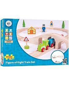 Wooden Figure of Eight Train Set
