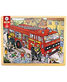 Wooden Fire Engine Tray Puzzle- 24 Pcs