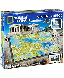 4D Cityscape Time Puzzle - National Geographic - Ancient Greece- 600 Pieces