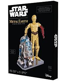 Metal Earth 3D Metal Model Kit - Star Wars R2-D2 and C-3PO Box Set