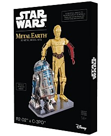 Metal Earth 3D Metal Model Kit - Star Wars R2-D2 and C-3PO Box Set