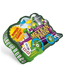 The Original Mexican Train Deluxe Double 12 Number Domino Set with Bonus Chickenfoot Game