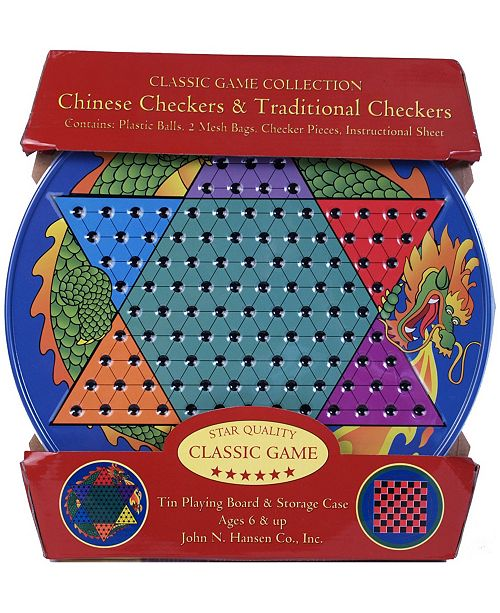 Crayola Chinese Checkers and Traditional Checkers Tin