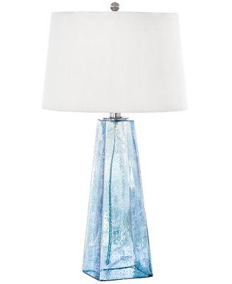 Regina Andrew Design Baha Blue Glass Table Lamp Lighting Lamps