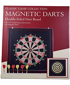 Classic Game Collection - Magnetic Darts Double-Sided Dart Board