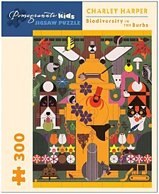 Charley Harper - Biodiversity in the Burbs Puzzle- 300 Pieces