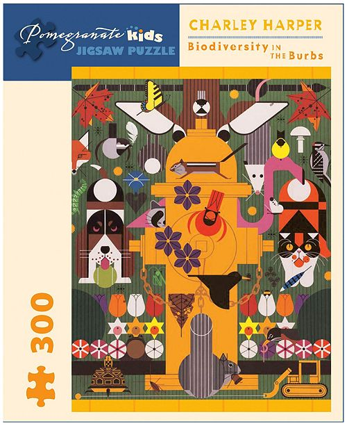 Pomegranate Communications, Inc. Charley Harper - Biodiversity in the Burbs Jigsaw Puzzle- 300 Pieces