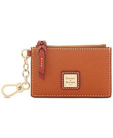 Dooney & Bourke Pebble Leather Ziptop Card Case