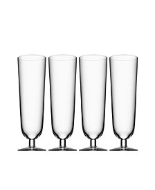 Orrefors Beer Pils Glasses, Set of 4