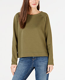Eileen Fisher Organic Cotton Terry Round-Neck Top