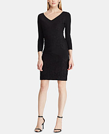 Lauren Ralph Lauren Lace-Paneled Dress