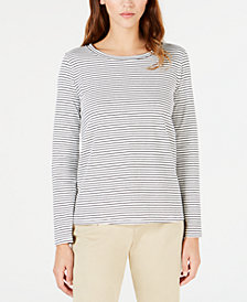 Weekend Max Mara Striped Long-Sleeve Top