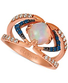 Le Vian® Multi-Gemstone (9/10 ct. t.w.) & Nude Diamonds (1/4 ct. t.w.) Statement Ring in 14k Rose Gold