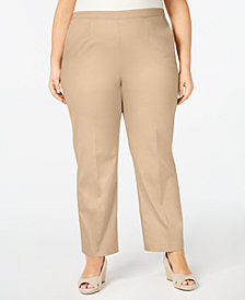 Alfred Dunner Plus Size Good To Go Pull-On Pants