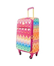 """Macbeth Collection 21"""" Chevron Softside Spinner Suitcase"""