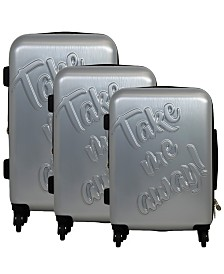 Macbeth Collection Take Me Away 3-Piece Nested Luggage Set