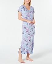 680f2b3d9d Charter Club Lace-Trimmed Printed Soft Knit Nightgown