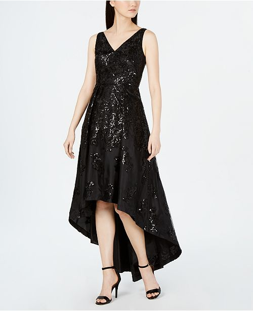 e5c0d7594b40 Calvin Klein Allover-Sequin High-Low Gown   Reviews - Dresses ...
