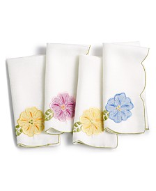 "Homewear Serenity Garden Napkins 18"" X 18"", Set of 4"