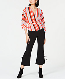Bar III Wrap Top & Cropped Pants, Created for Macy's