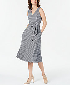 Calvin Klein Printed Sleeveless Fit & Flare Dress