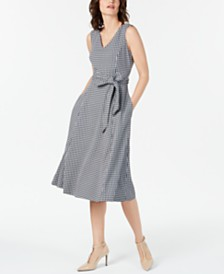 Calvin Klein Printed Sleeveless Fit & Flare Dress
