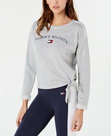 Tommy Hilfiger Sport Logo Side-Tie Sweatshirt, Created for Macy's