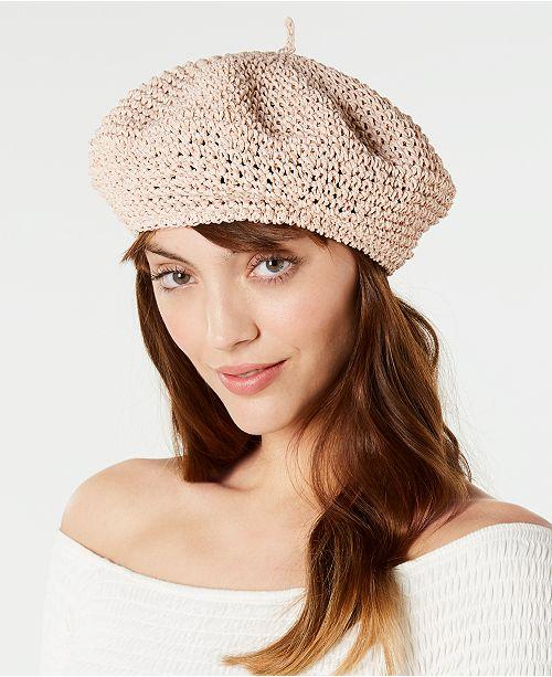 012f20a05bb63 Steve Madden Crochet Beret - Handbags   Accessories - Macy s