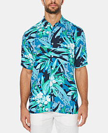 Cubavera Men's Leaf-Print Graphic Short-Sleeve Shirt