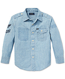 Polo Ralph Lauren Toddler Boys Chambray Cotton Shirt